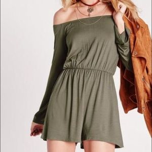 Missguided Green Romper